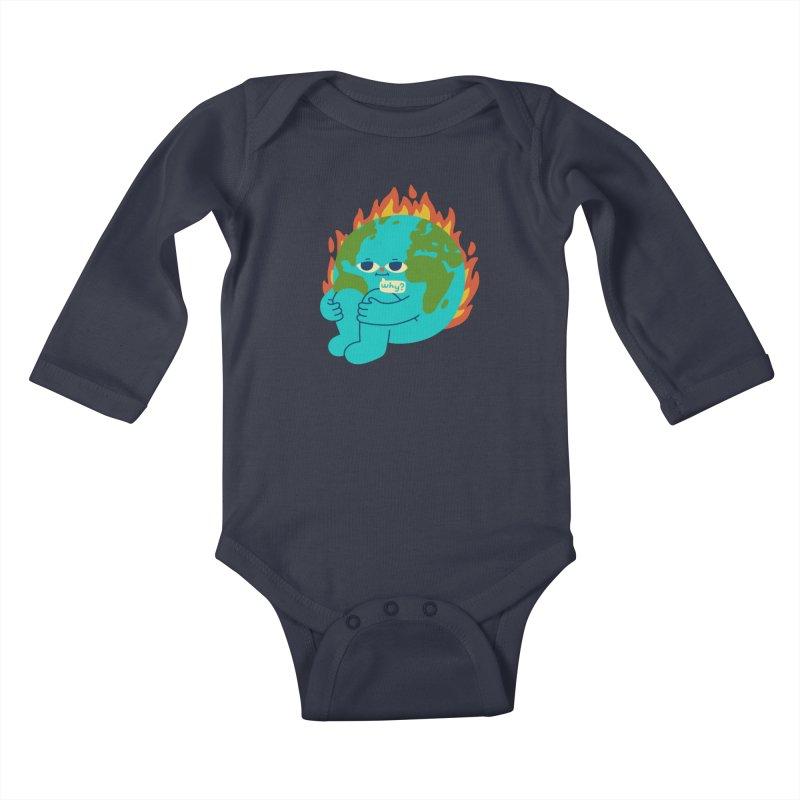 The Earth is Concerned Kids Baby Longsleeve Bodysuit by obinsun