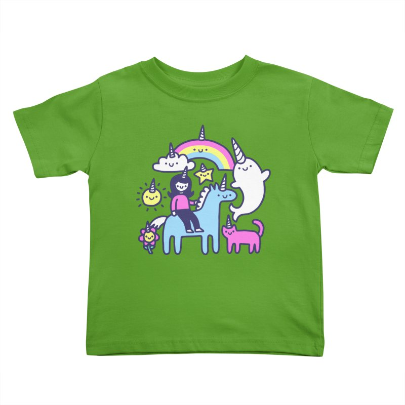 Unicorns Everywhere! Kids Toddler T-Shirt by obinsun