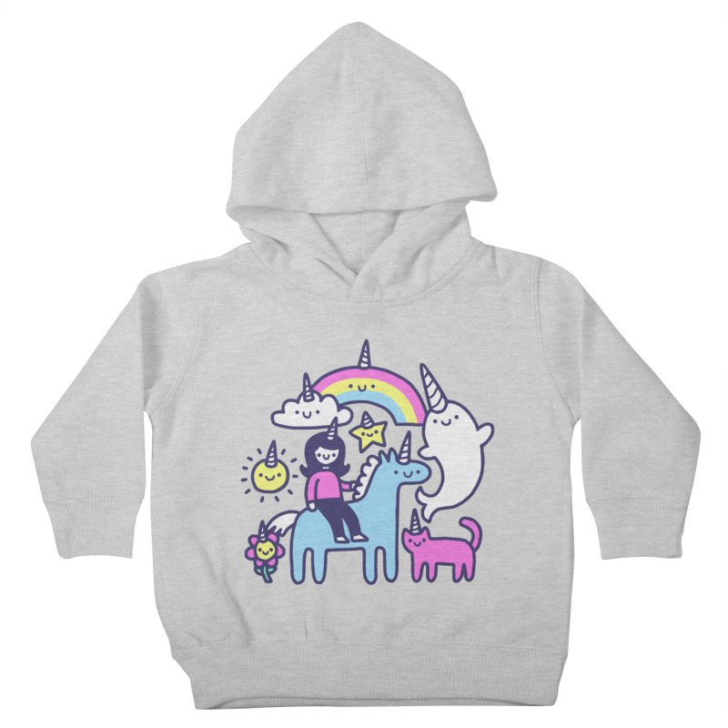 Unicorns Everywhere! Kids Toddler Pullover Hoody by obinsun