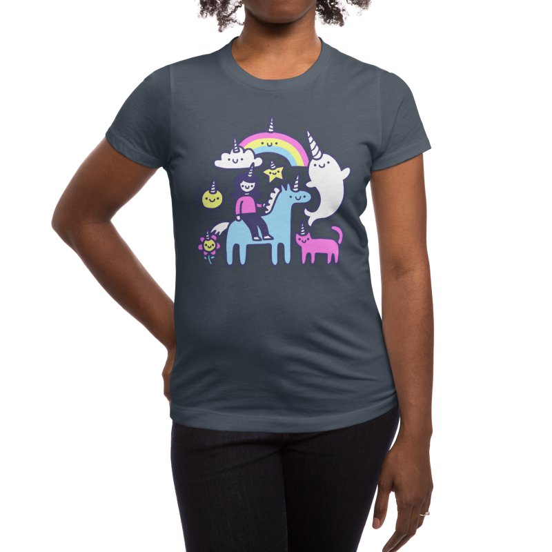 Unicorns Everywhere! Women's T-Shirt by obinsun