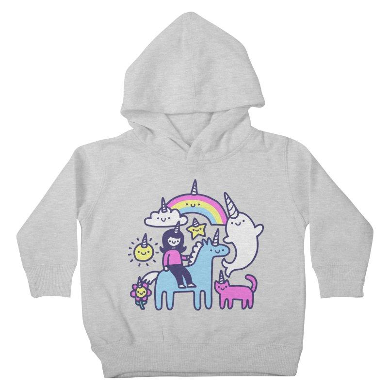 Unicorns Everywhere! Kids Toddler Pullover Hoody by obinsun
