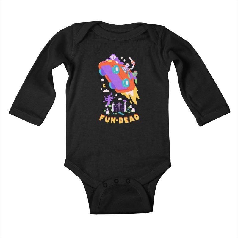 FUN-DEAD Kids Baby Longsleeve Bodysuit by obinsun