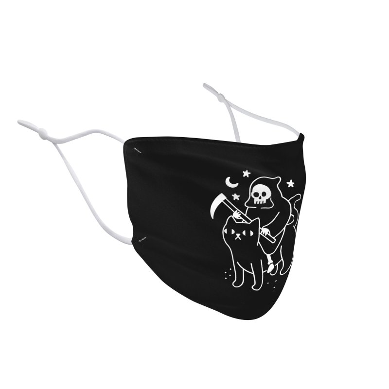Death Rides A Black Cat Accessories Face Mask by obinsun