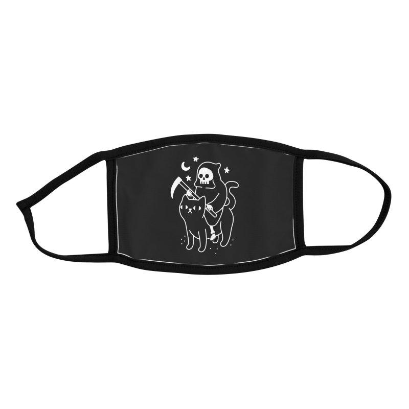Death Rides A Black Cat Accessories Face Mask by obinsun