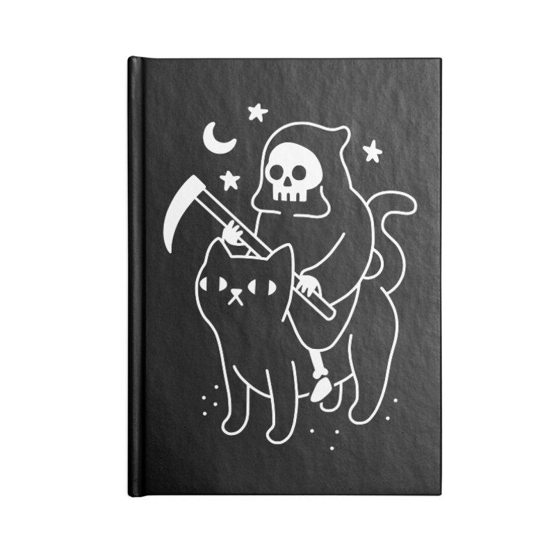 Death Rides A Black Cat Accessories Notebook by obinsun