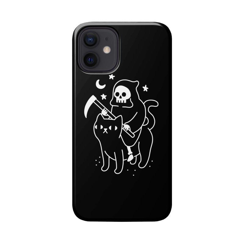 Death Rides A Black Cat Accessories Phone Case by obinsun
