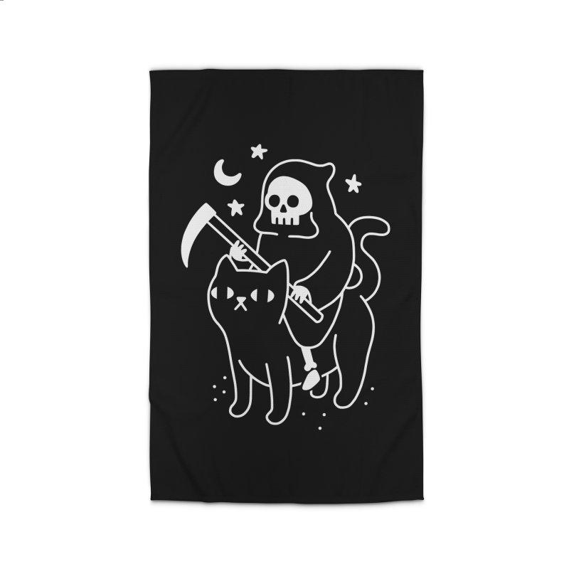 Death Rides A Black Cat Home Rug by obinsun