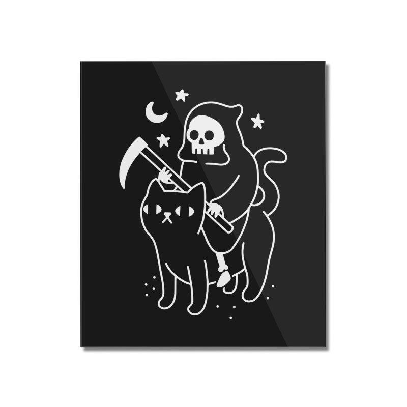 Death Rides A Black Cat Home Mounted Acrylic Print by obinsun