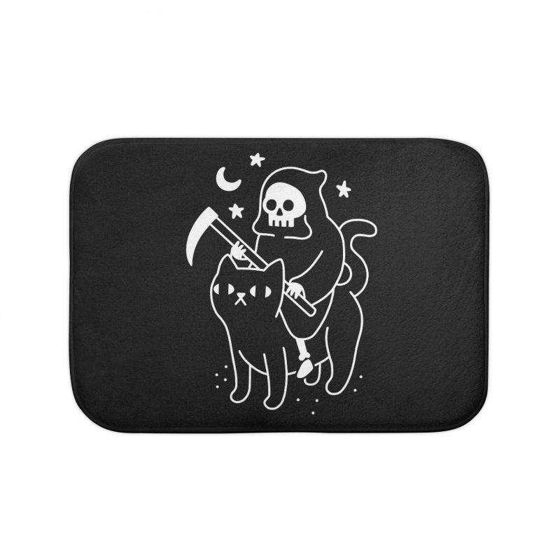 Death Rides A Black Cat Home Bath Mat by obinsun