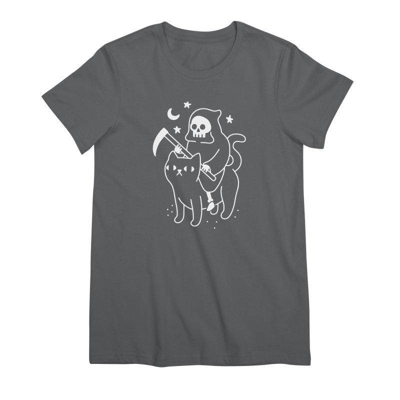Death Rides A Black Cat Women's T-Shirt by obinsun