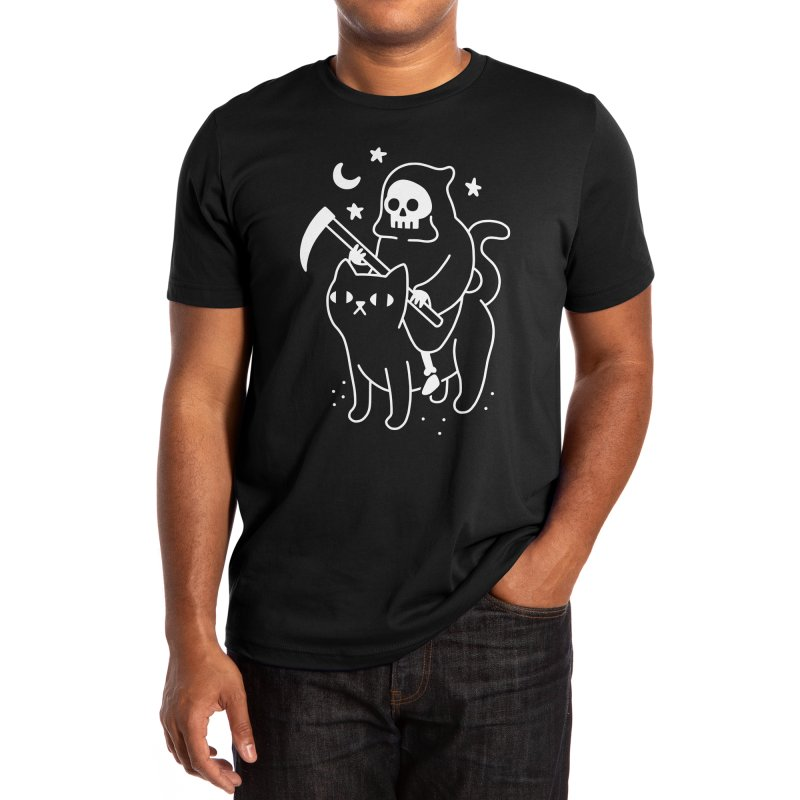 Death Rides A Black Cat Men's T-Shirt by obinsun