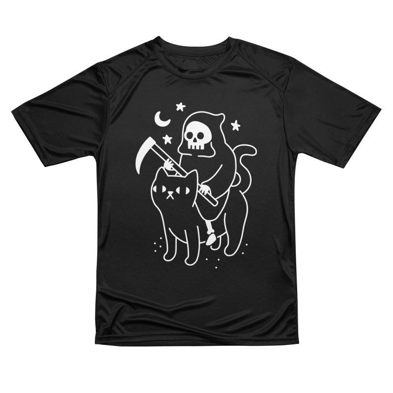 Death Rides A Black Cat Men's T-Shirt by obinsun