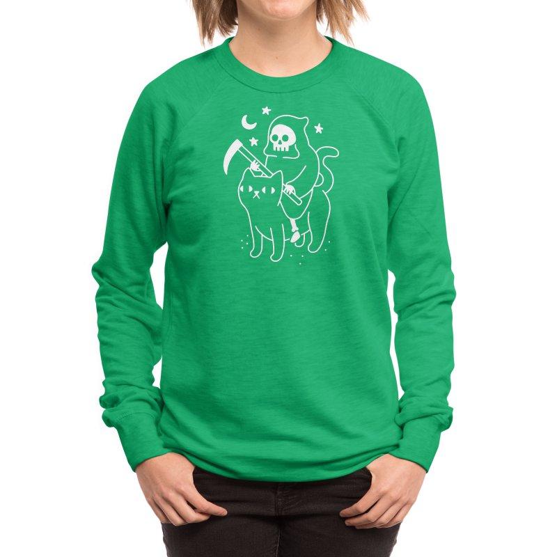 Death Rides A Black Cat Women's Sweatshirt by obinsun