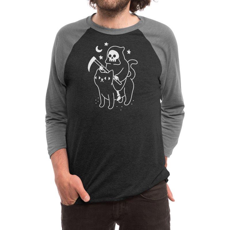 Death Rides A Black Cat Men's Longsleeve T-Shirt by obinsun