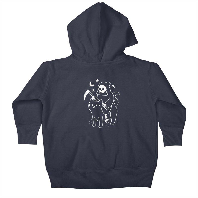 Death Rides A Black Cat Kids Baby Zip-Up Hoody by obinsun