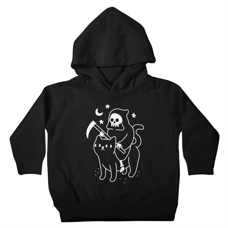Death Rides A Black Cat Kids Toddler Pullover Hoody by obinsun