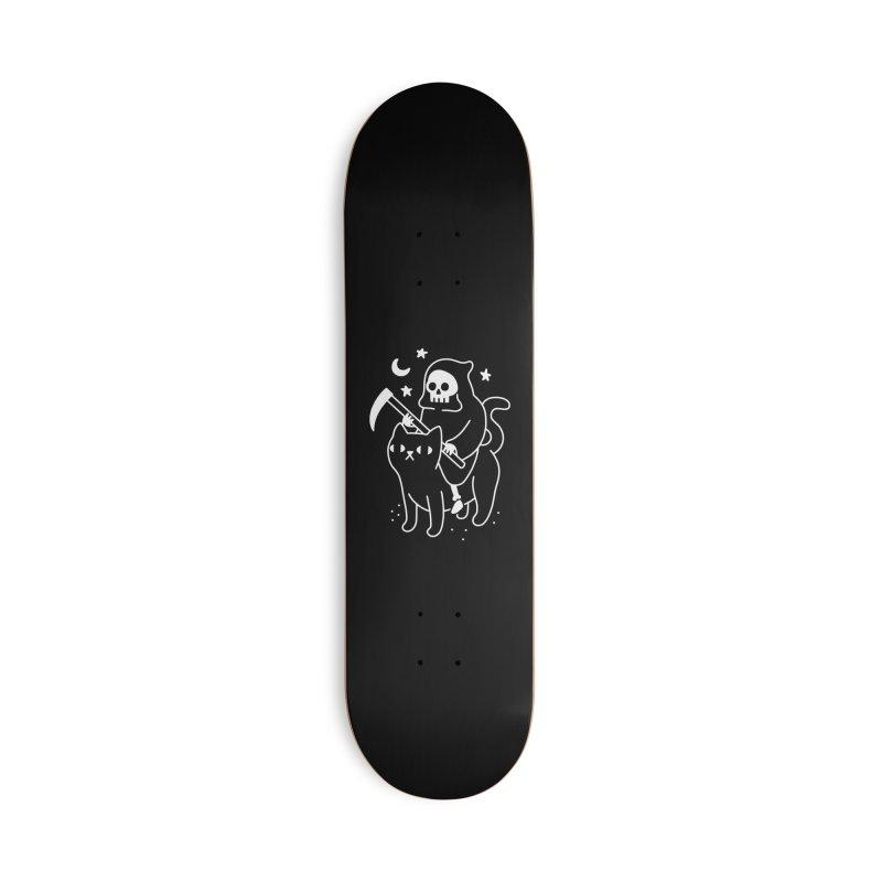 Death Rides A Black Cat Accessories Skateboard by obinsun
