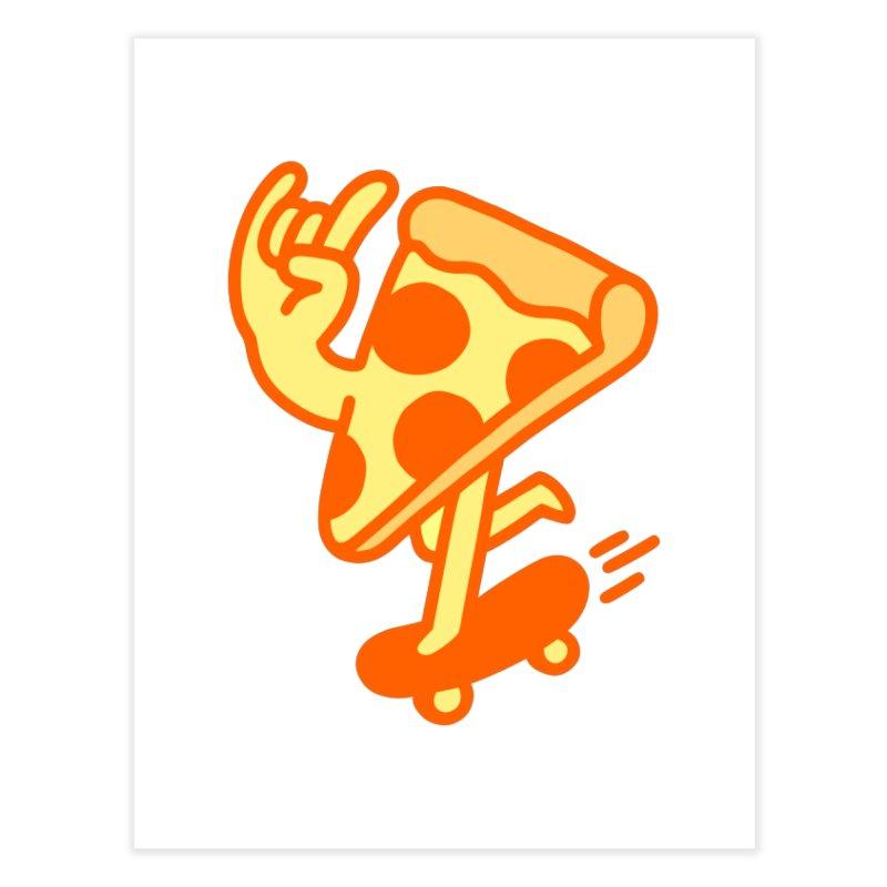 Rad Pizza Home Fine Art Print by obinsun