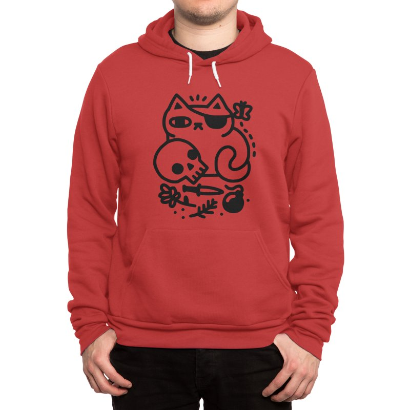 Badass Cat Men's Pullover Hoody by obinsun