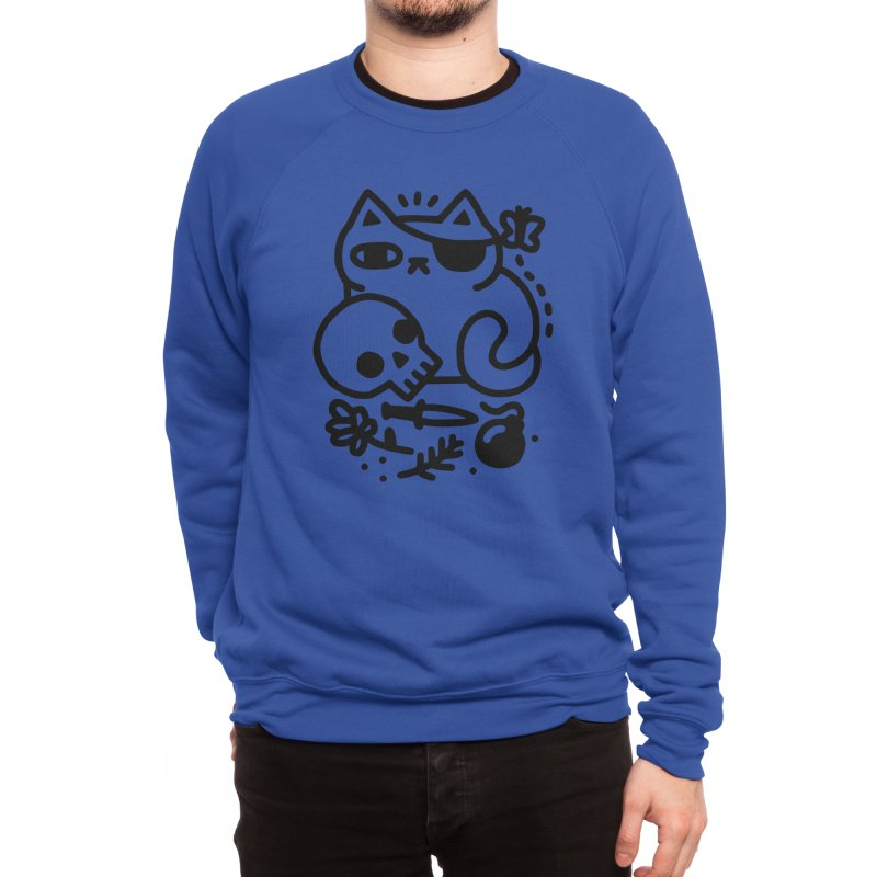 Badass Cat Men's Sweatshirt by obinsun