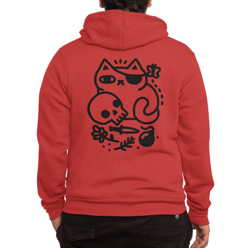 Badass Cat Men's Zip-Up Hoody by obinsun