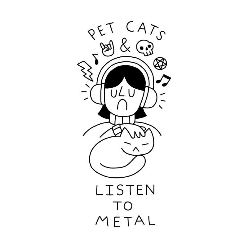 Pet Cats & Listen To METAL by obinsun