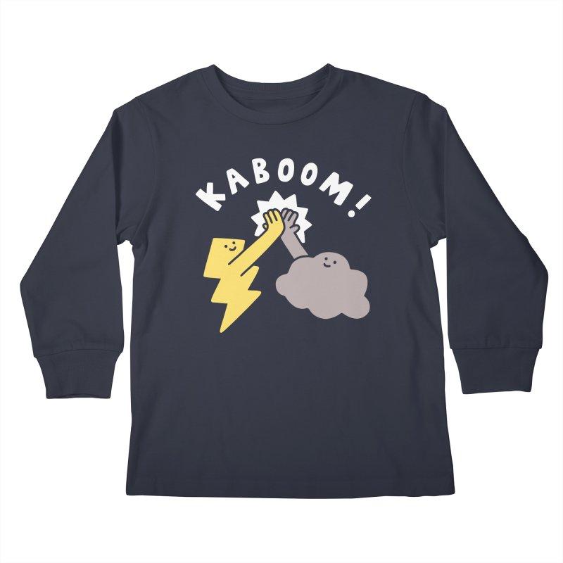 Thunderclap Kids Longsleeve T-Shirt by obinsun