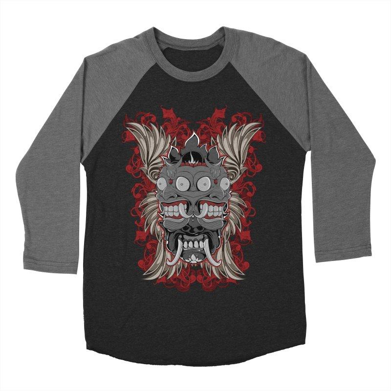 Voodoo Faces Women's Baseball Triblend Longsleeve T-Shirt by Oblivion Design's Artist Shop