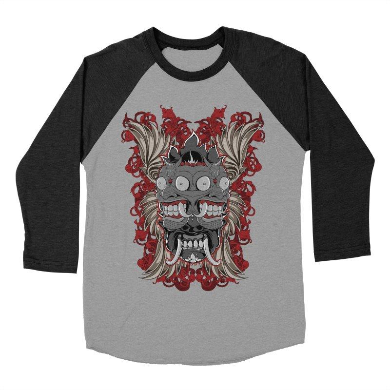 Voodoo Faces Women's Baseball Triblend T-Shirt by Oblivion Design's Artist Shop