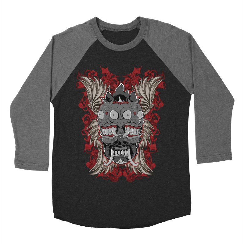 Voodoo Faces Men's Baseball Triblend Longsleeve T-Shirt by Oblivion Design's Artist Shop