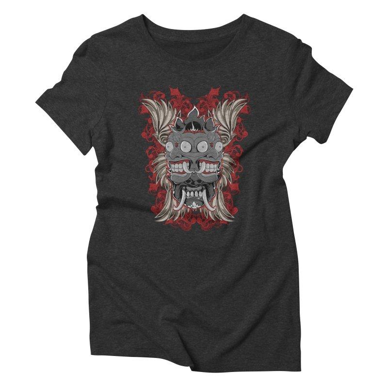 Voodoo Faces Women's Triblend T-Shirt by Oblivion Design's Artist Shop