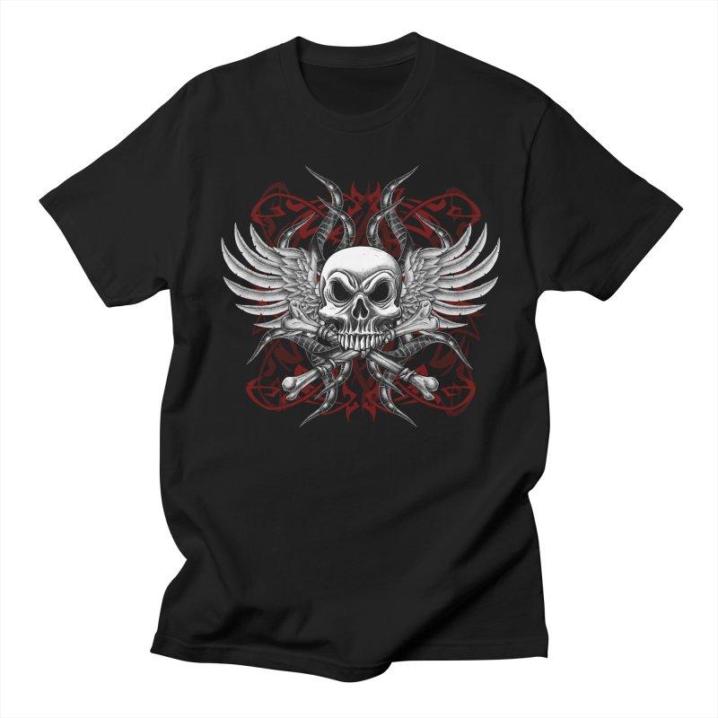Winged Skull Men's T-Shirt by Oblivion Design's Artist Shop