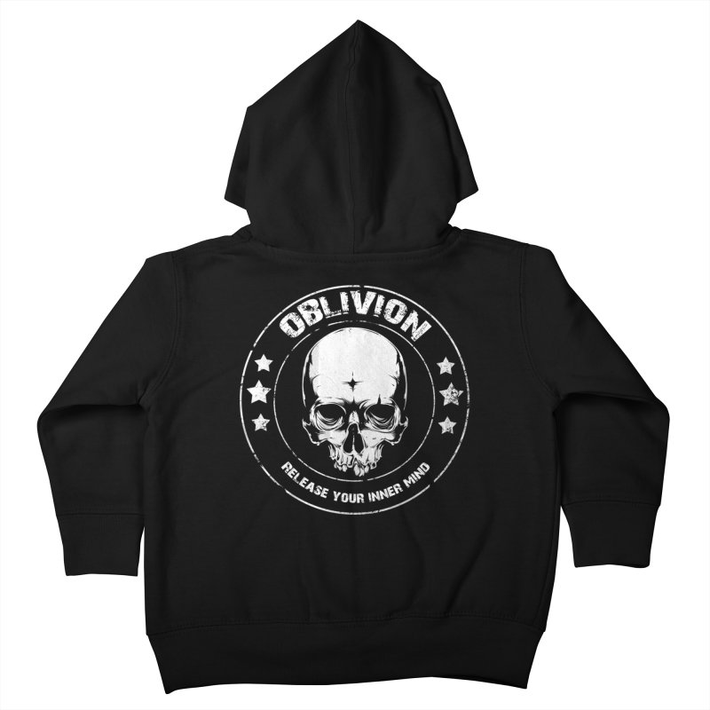 Oblivion - Release You Inner Mind (black) Kids Toddler Zip-Up Hoody by Oblivion Design's Artist Shop