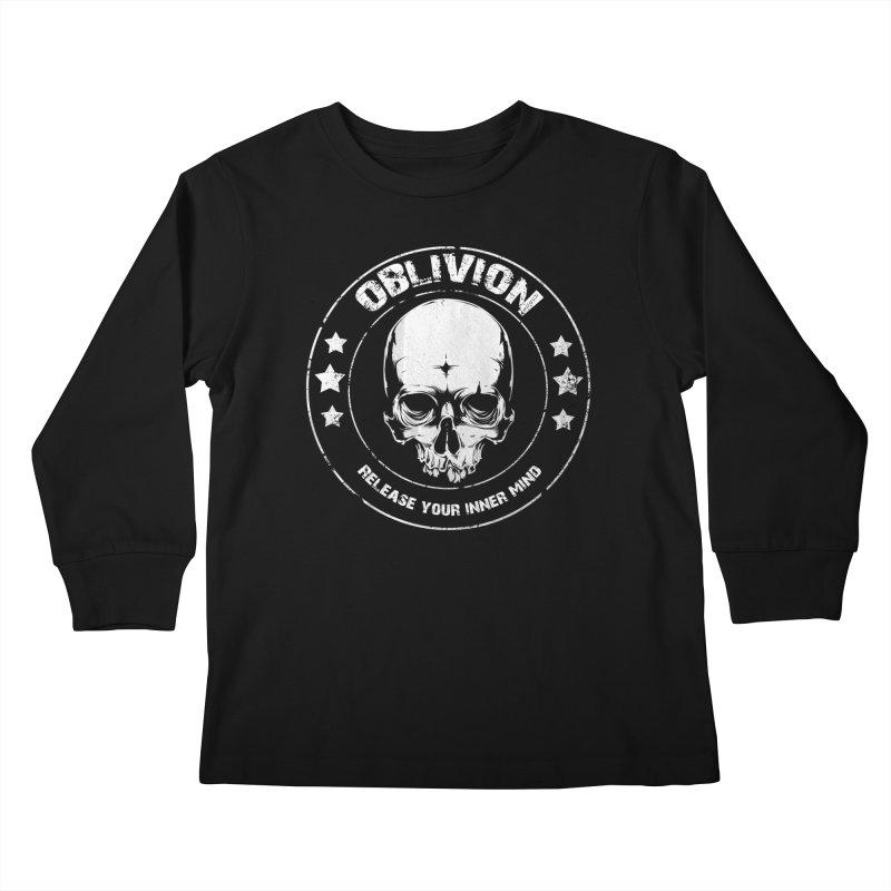 Oblivion - Release You Inner Mind (black) Kids Longsleeve T-Shirt by Oblivion Design's Artist Shop