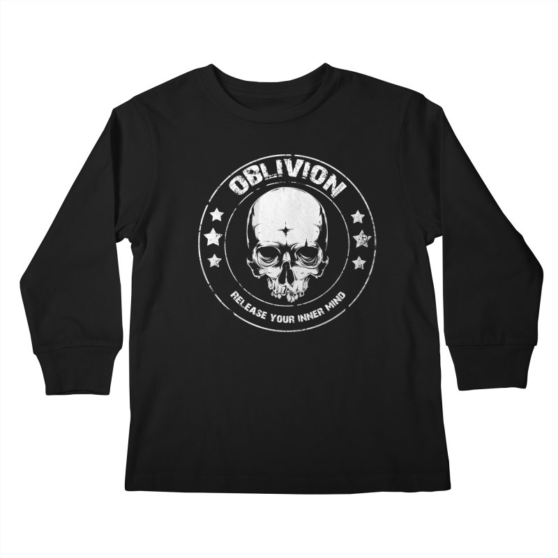 Oblivion - Release You Inner Mind (black) Kids Longsleeve T-Shirt by Oblivion Design's Artist Shop