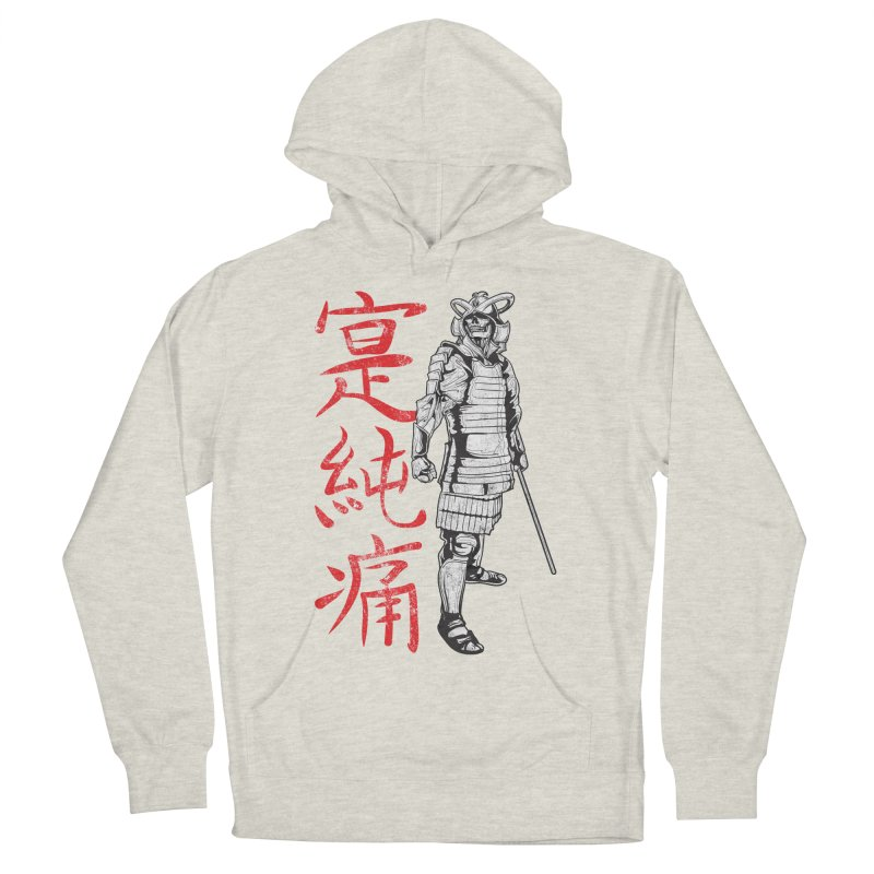 Samurai Skeleton Warrior (white) Women's French Terry Pullover Hoody by Oblivion Design's Artist Shop