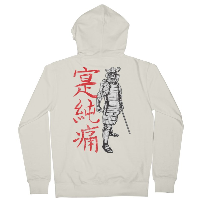 Samurai Skeleton Warrior (white) Women's Zip-Up Hoody by Oblivion Design's Artist Shop