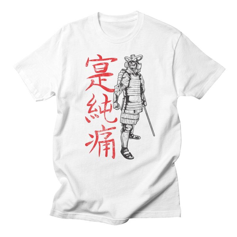 Samurai Skeleton Warrior (white) Men's T-Shirt by Oblivion Design's Artist Shop