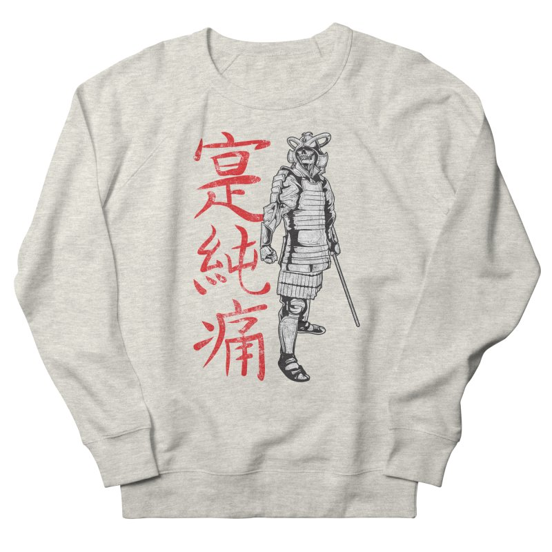 Samurai Skeleton Warrior (white) Men's French Terry Sweatshirt by Oblivion Design's Artist Shop