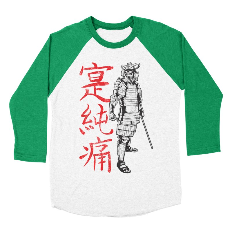 Samurai Skeleton Warrior (white) Women's Baseball Triblend Longsleeve T-Shirt by Oblivion Design's Artist Shop