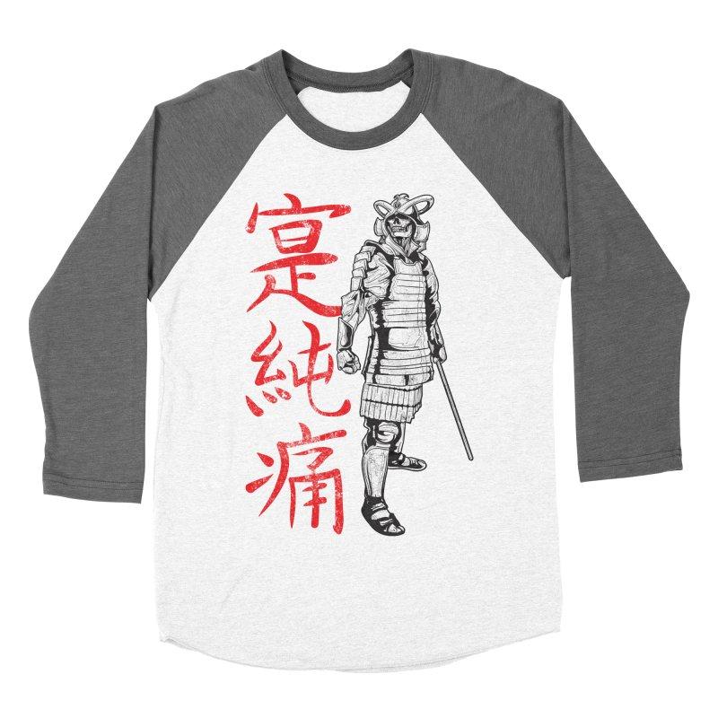 Samurai Skeleton Warrior (white) Men's Baseball Triblend T-Shirt by Oblivion Design's Artist Shop
