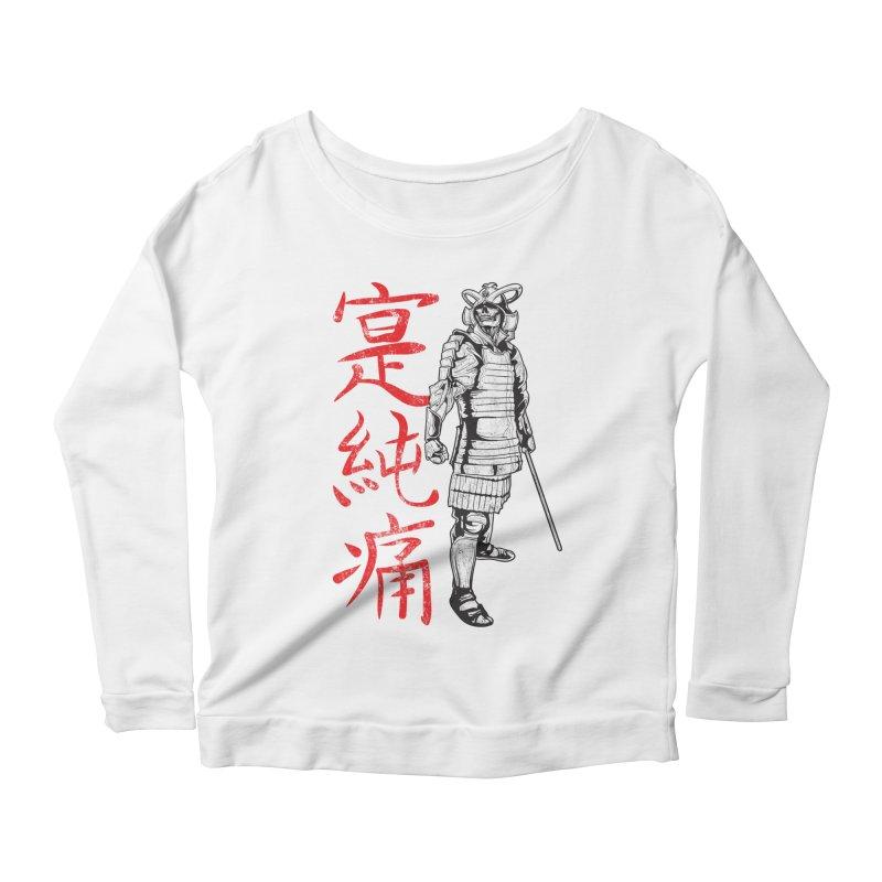 Samurai Skeleton Warrior (white) Women's Longsleeve Scoopneck  by Oblivion Design's Artist Shop