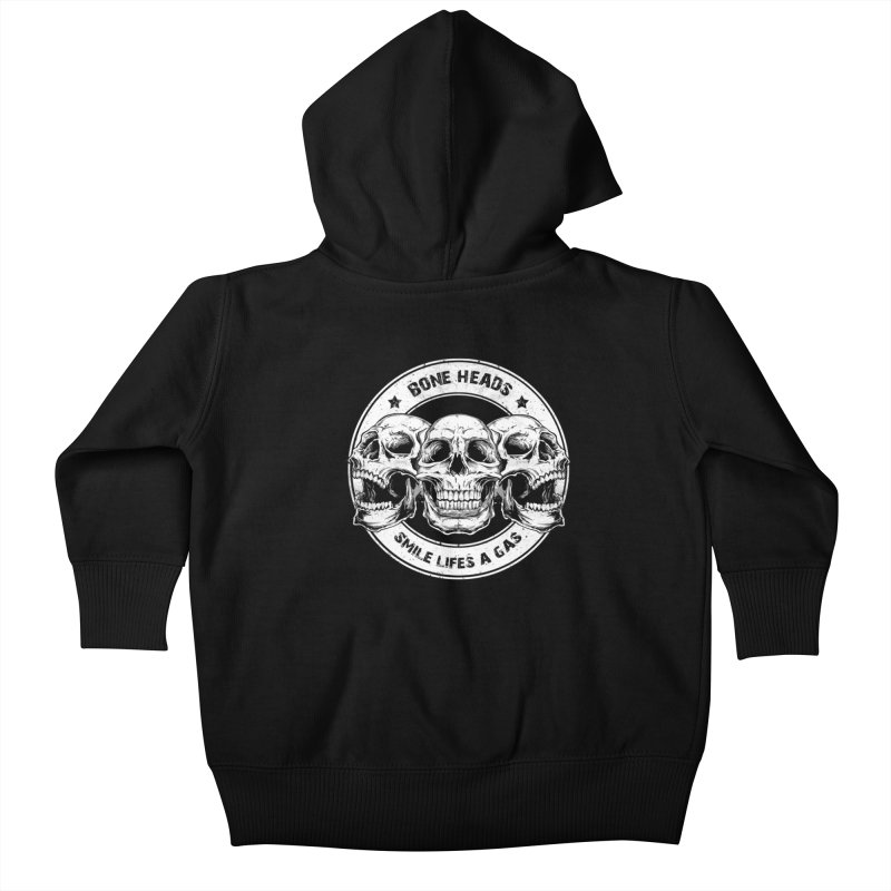 Bone Heads Kids Baby Zip-Up Hoody by Oblivion Design's Artist Shop