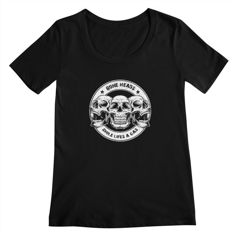 Bone Heads Women's Scoopneck by Oblivion Design's Artist Shop