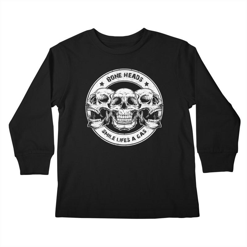 Bone Heads Kids Longsleeve T-Shirt by Oblivion Design's Artist Shop