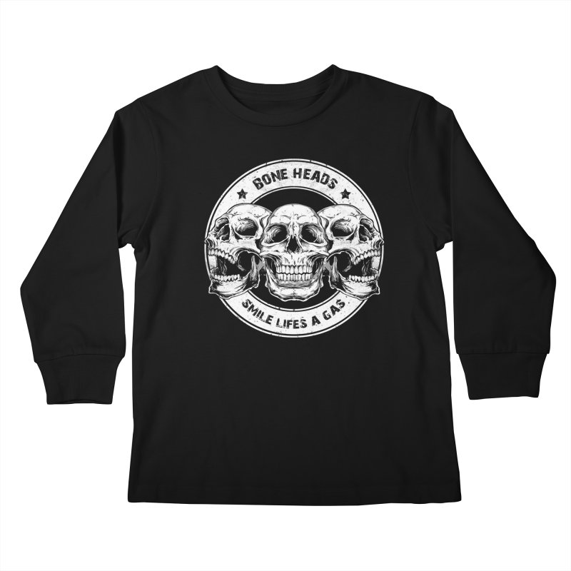 Bone Heads Kids Longsleeve T-Shirt by Oblivion Design's Artist Shop