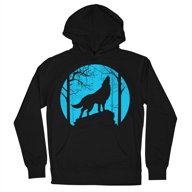 Midnight Howler Women's French Terry Pullover Hoody by Oblivion Design's Artist Shop