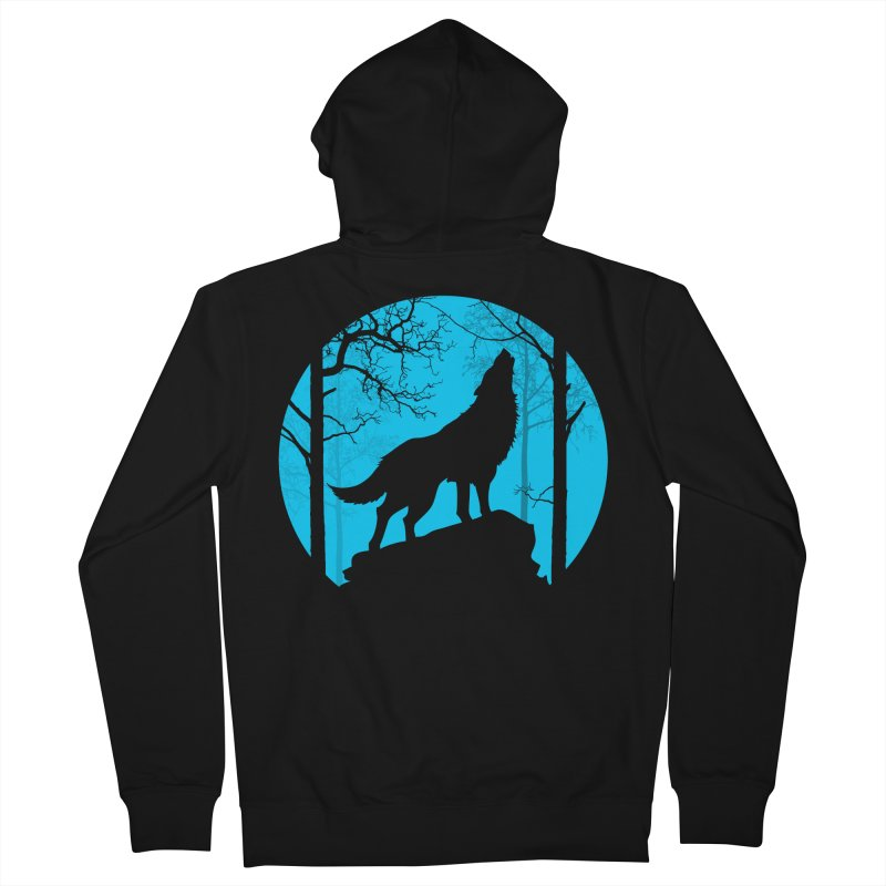 Midnight Howler Men's Zip-Up Hoody by Oblivion Design's Artist Shop