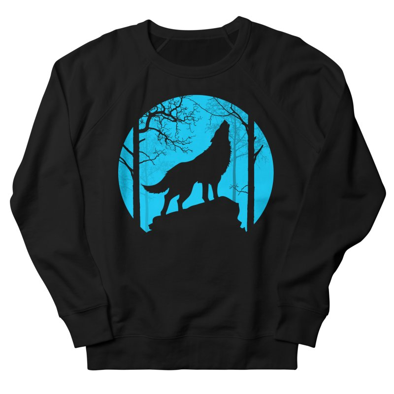 Midnight Howler Men's French Terry Sweatshirt by Oblivion Design's Artist Shop