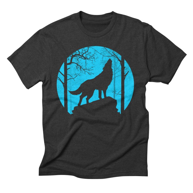 Midnight Howler Men's Triblend T-shirt by Oblivion Design's Artist Shop